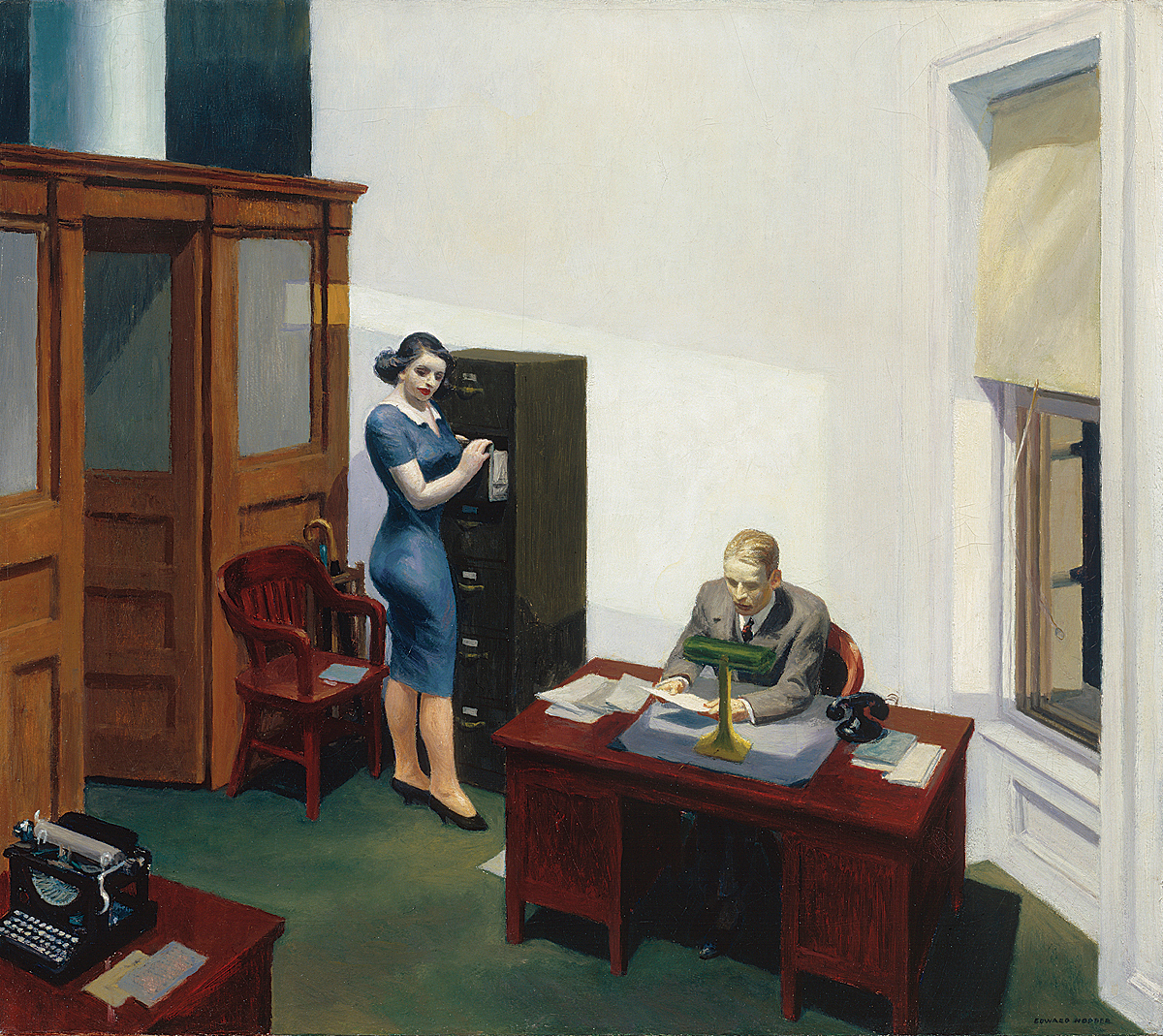 Hopper - Office at Night