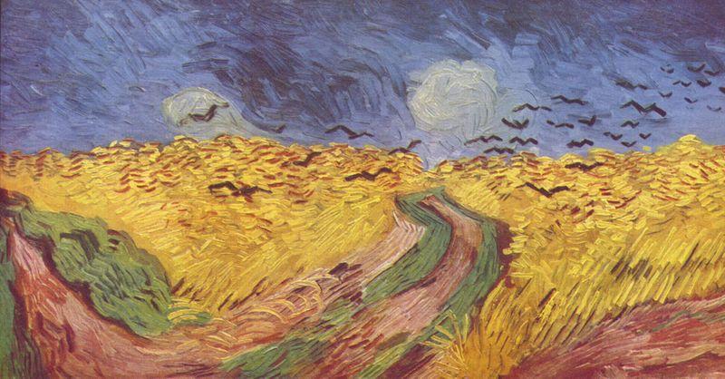 Les champs de blé, Van Gogh