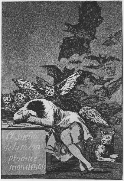 Le Sommeil de la raison engendre des monstres, Goya