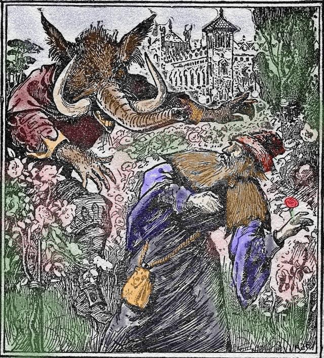 La Belle et la Bête - trompe