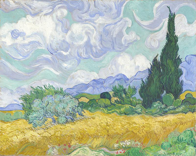 Van Gogh - Champ de blé et son cyprès