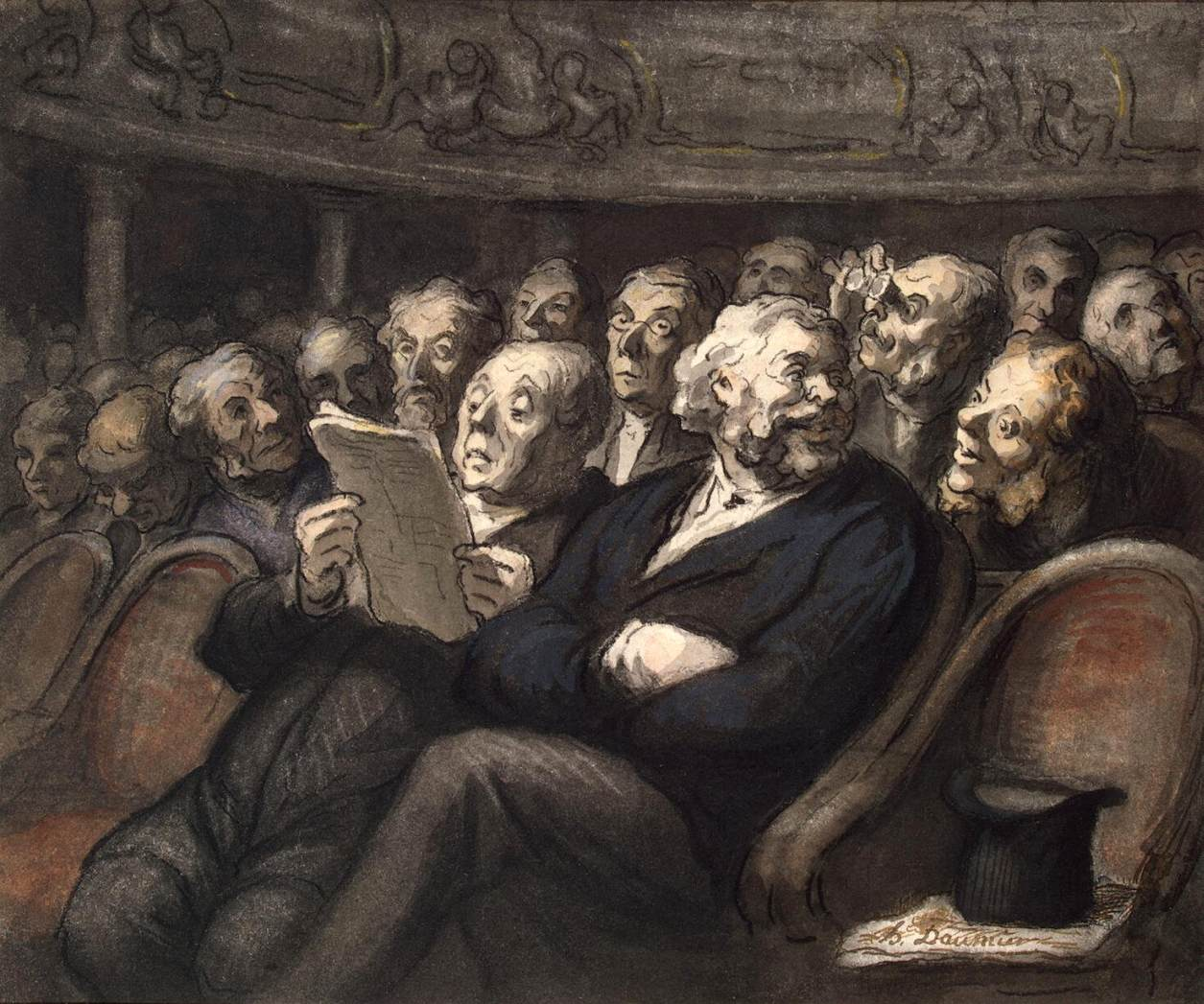 Daumier - Entracte à la Comédie Française