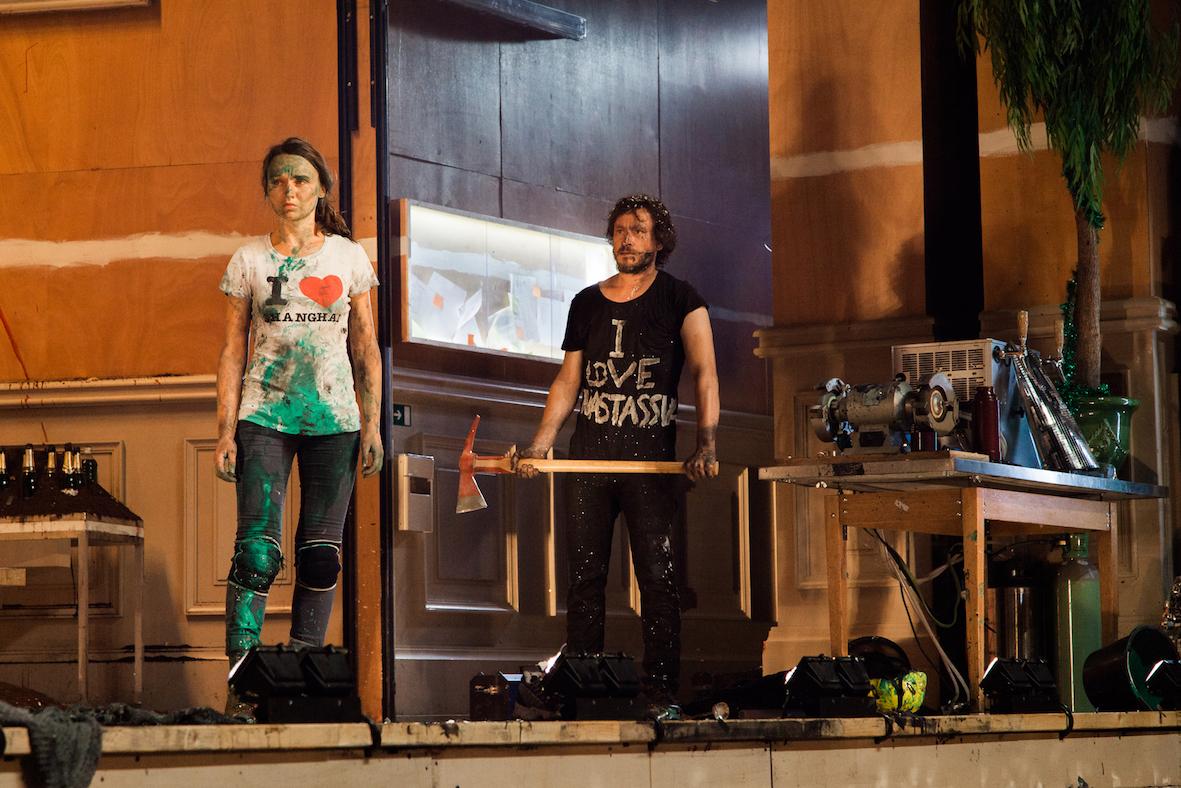 """Avant-première de """"L'idiot"""", de Vincent Macaigne au Théâtre de Vidy, le 10.09.2014."""
