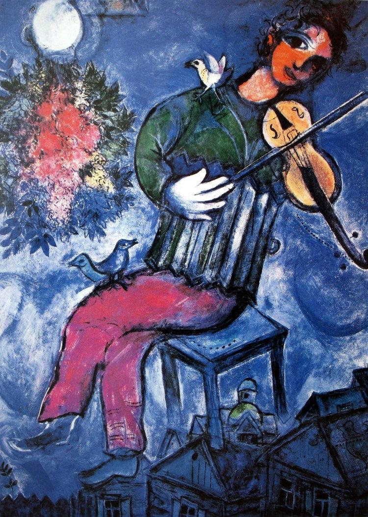 Chagall - Le volioniste bleu