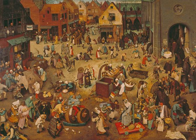 Der Kampf zwischen Fasching und Fasten. 1559